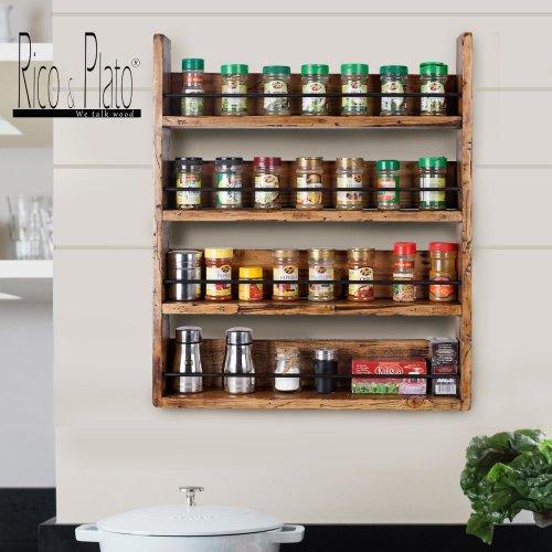 Wooden Vintage Spice Rack Bocuse