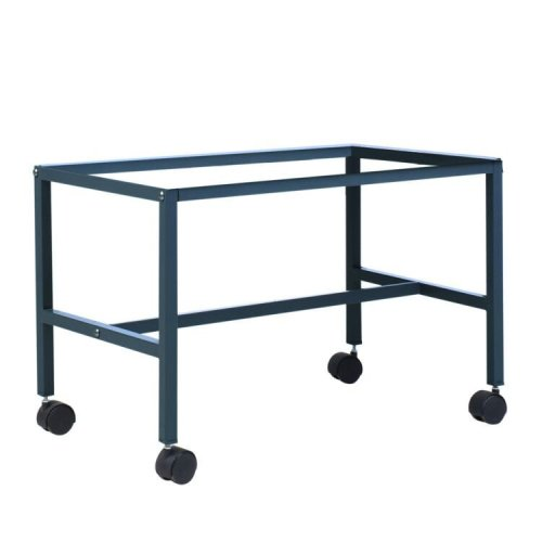 Pawhut Metal Bird Cage Stand Base with Rolling Casters 70 x 42cm Grey