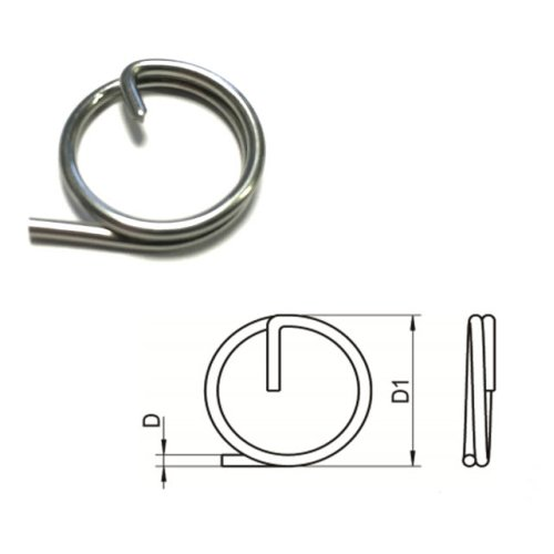 Split Cotter Ring T316 (A4) Marine grade stainless steel 2 x 23 mm