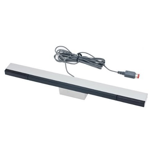 Sensor bar for Wii & Wii U wired infrared LED motion inc stand silver | ZedLabz