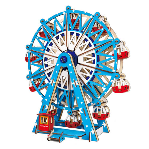 3D Puzzle Wooden Toy for Kids, Teens and Adults - Ferris Wheel