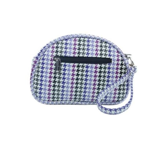 Pina Colada-Clutch Insulated Cosmetics Bags with Removable Wristlet, Houndstooth