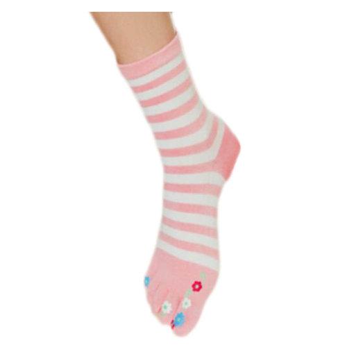 Tube Toe Socks Cotton Soft House Socks Cartoon Cute Socks-A02