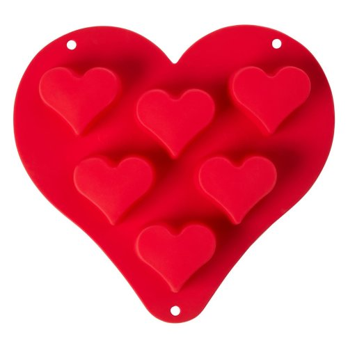 Zing Heart-Shaped Baking Mould, Red