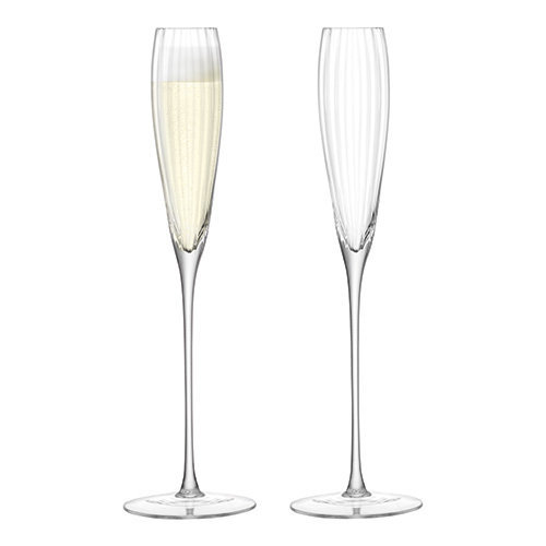 LSA International Aurelia Grand Champagne Flute 165ml Clear Optic x 2, Set of 2