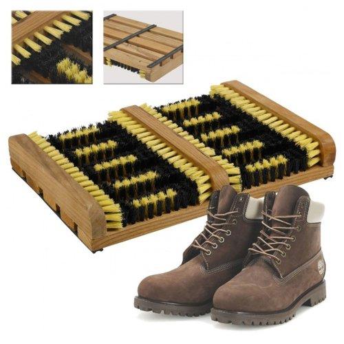 Heavy Duty Boot Scraper Mat Brush - Mud Outdoor Shoe Trainer Cleaner Doorstep