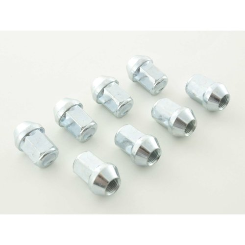 Nuts Set (8 pieces), M12 x 1.75 23mm Taper silver