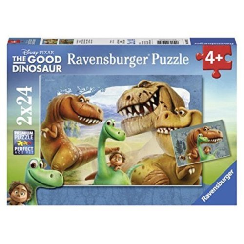 Ravensburger The Good Dinosaur The Good Dinosaur in a Box 2 x 24 Piece Jigsaw Puzzles for Kids Every Piece is Unique Pieces Fit Together Perfectly