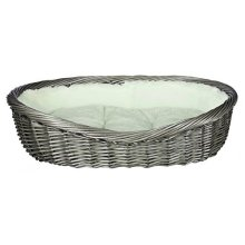 Trixie Basket With Cover And Cushion, 70cm, Grey - Dog Various Sizes New -  trixie dog basket grey various sizes new