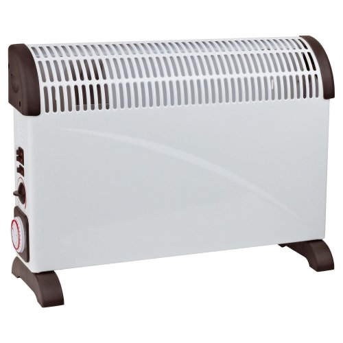 Sentik 2kW White Convector Heater with Turbo Fan and 24 Hour Timer 2000W