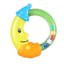Baby Early Childhood Toys Baby Hand Bell Safety Education Gift (Moon)