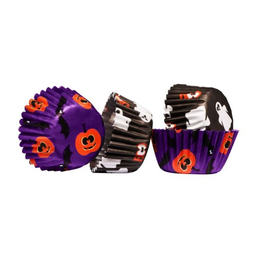 100pk Halloween Cupcake Cases - Mini | Spooky Cupcake Cases