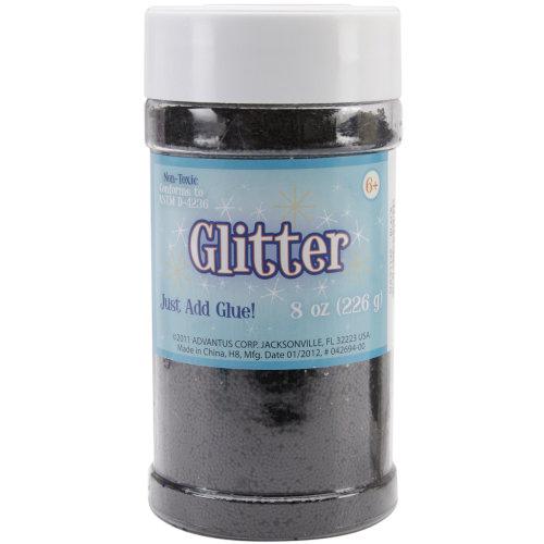 Metallic Glitter 8oz-Black