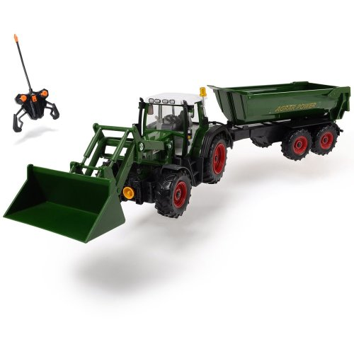 Dickie 201119266 Remote Control Tractor, Multicolor