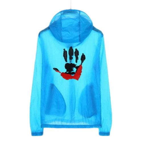 Waterproof Luminous Sun Protective Cool Hand Clothing Cycling Climbing Long Sleeve Shirts-Blue