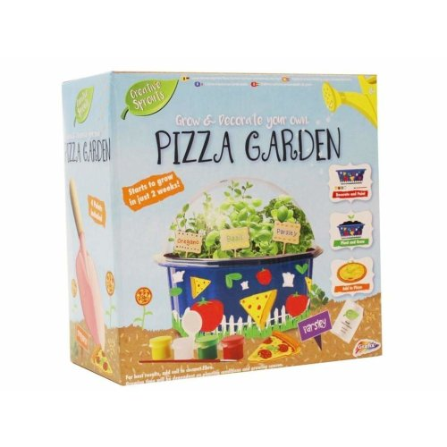 Creative Sprouts Grow & Decorate Your Own Pizza Herbs Garden Plants Kit
