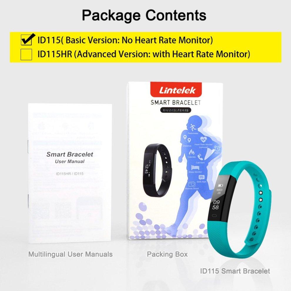 Lintelek Fitness Tracker, Slim Activity Tracker Step Counter with Sleep  Monitor, Alarm and Message Reminder, Waterproof Bluetooth Pedometer Smart
